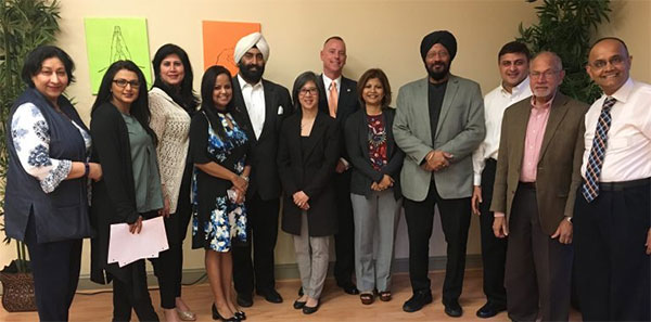 South Asian American Affairs Commissioners at the 2019 First Public Meeting in Columbia with GOCI Executive Director Steven J. McAdams and Administrative Director Christina Poy