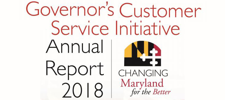 Governor Larry Hogan's Customer Service Annual Report
